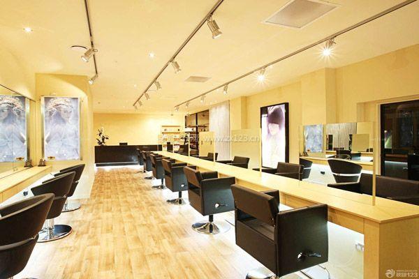 潮流发廊设计效果图 理发店装修费用