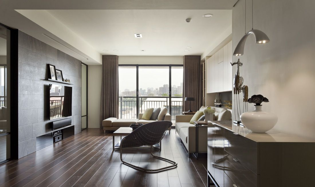 现代房屋简约客厅颜色搭配效果图2017图片