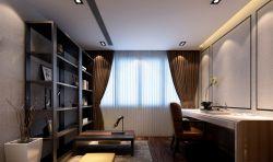 新中式書房窗簾裝修效果圖