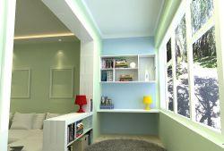 小户型婚房装修卧室阳台书房效果图