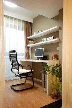 简单卧室电脑桌装修效果图片