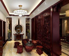 客厅进门玄关 中式混搭风格装修效果图