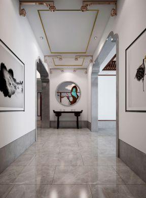 新中式元素图案 玄关装饰效果图