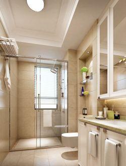 小户型卫生间地面瓷砖装修图片_装修123效果图