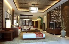 中式客廳吊頂