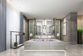 卫生间地面瓷砖贴 中式别墅设计图图片