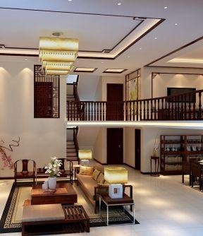 别墅新中式客厅装仹�b9��9f_新中式别墅客厅设计