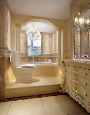 欧式室内设计卫生间浴缸效果图图片