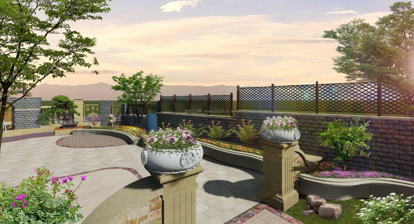 露天休闲阳台花园设计装修效果图案例