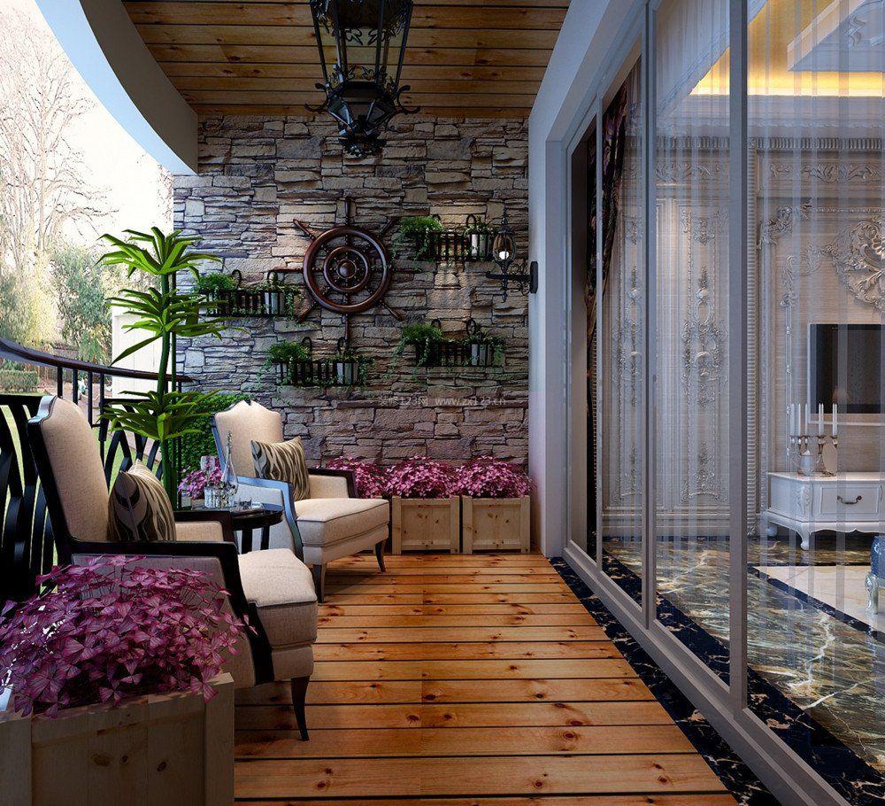 露天阳台花园设计阳台地面装修效果图片