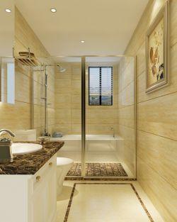 欧式长方形卫生间壁灯装修效果图片