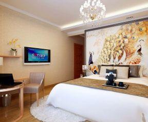家庭三居室 現代風格臥室背景墻