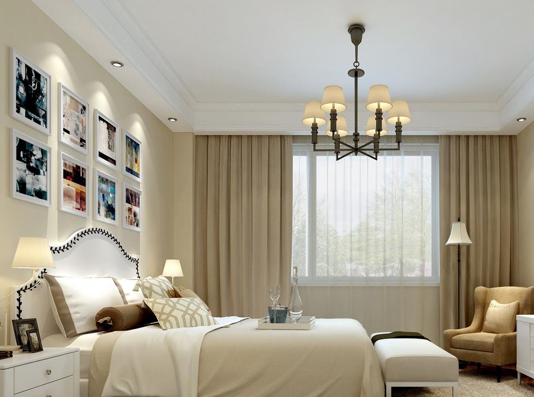 简约欧式风格小房间卧室布置装修效果图片
