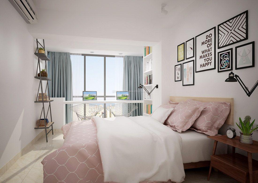 小房间卧室布置飘窗改书桌装修效果图片图片
