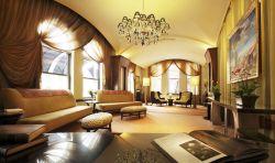 豪華客廳窗簾裝飾設計圖