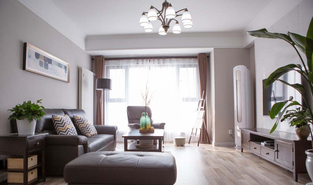 现代简约混搭风格房屋客厅装修效果图片