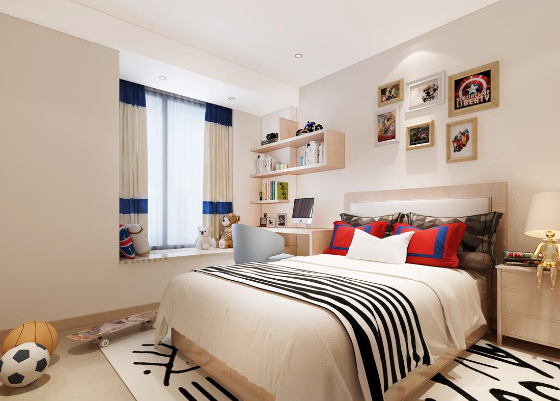 欧式现代独栋别墅儿童房颜色装修效果图片