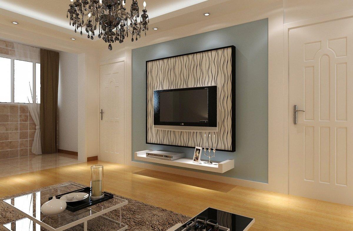 现代简约风格客厅电视墙设计图片