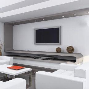 现代简约风格电视墙 室内装饰图片