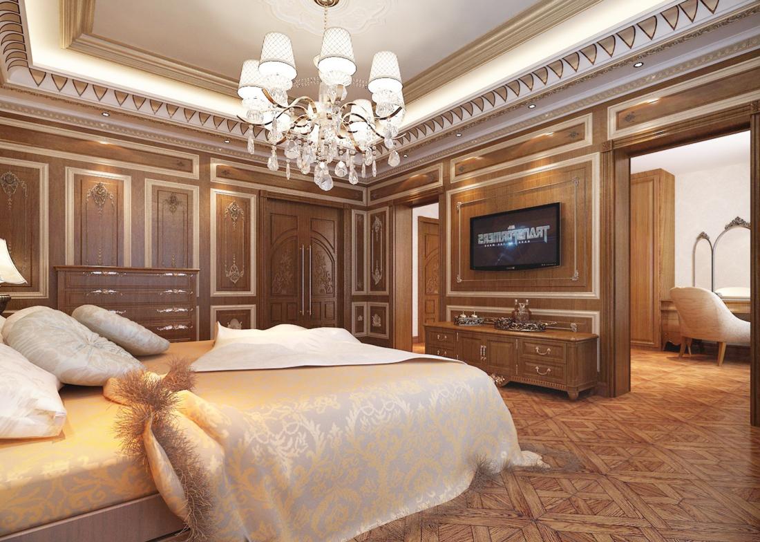 2017欧式古典风格别墅大卧室隔断装修效果图
