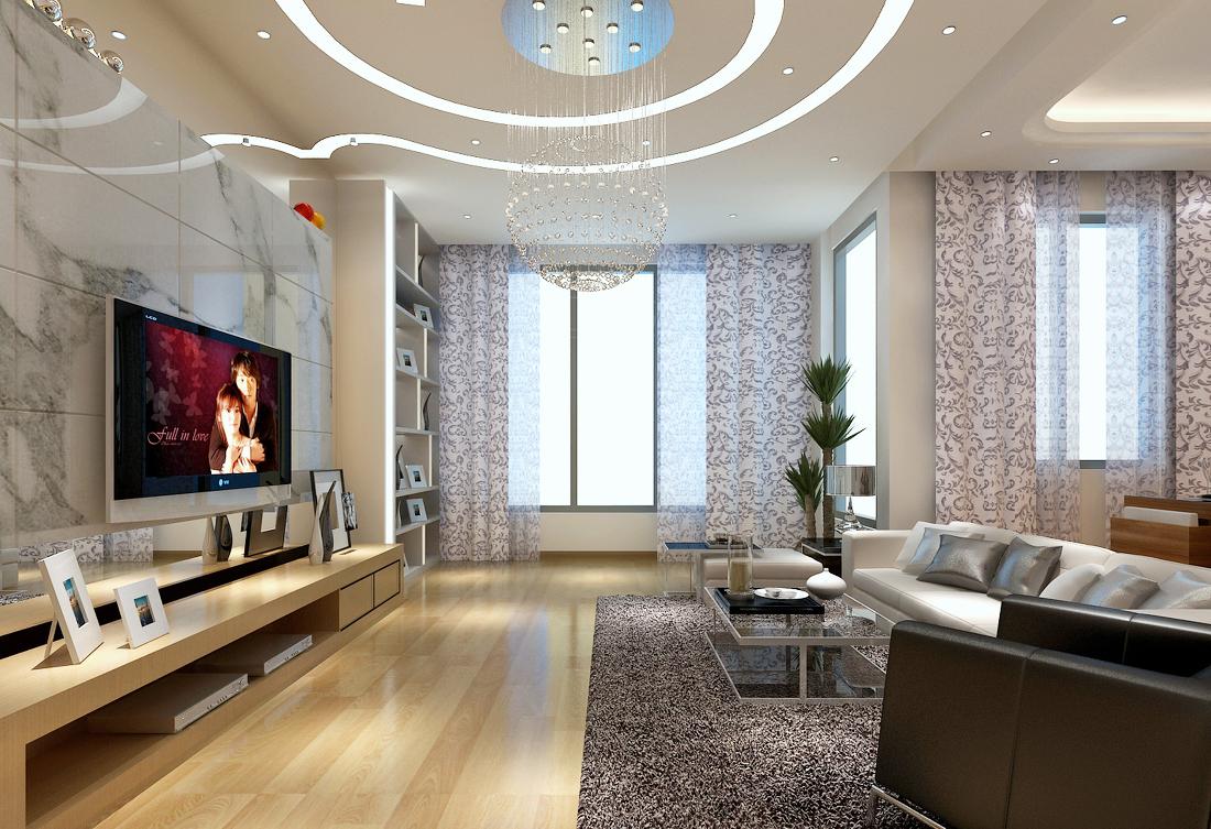 现代简约小客厅过道设计效果图