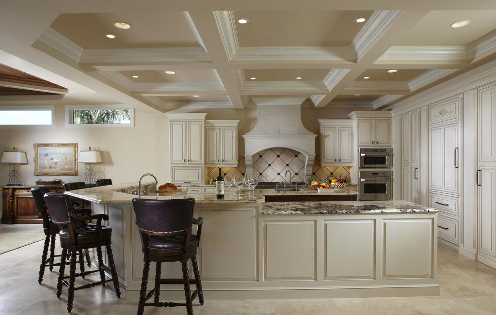 欧式家装开放式厨房装修设计图