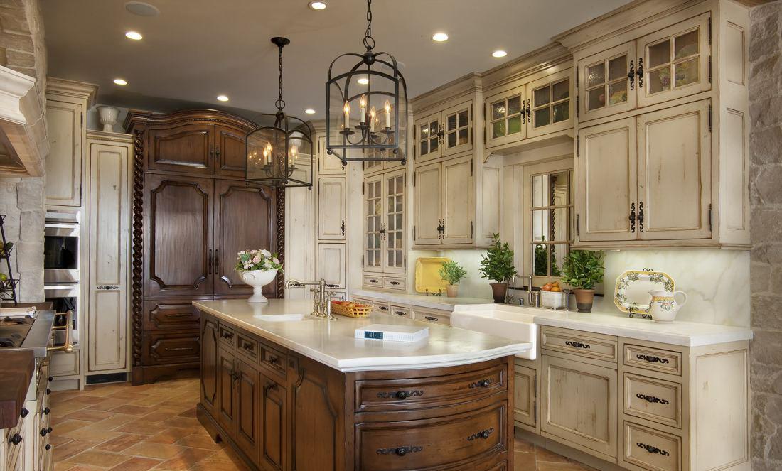 欧式家装厨房橱柜设计效果图大全