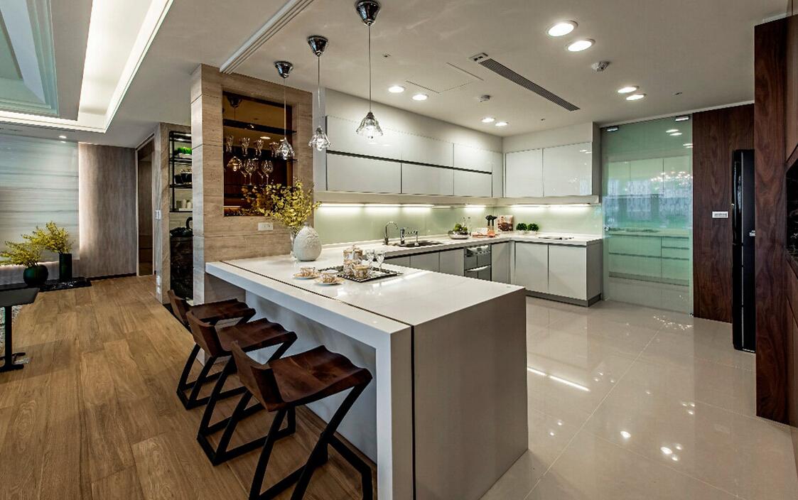 现代简约主义风格房屋厨房装修图片