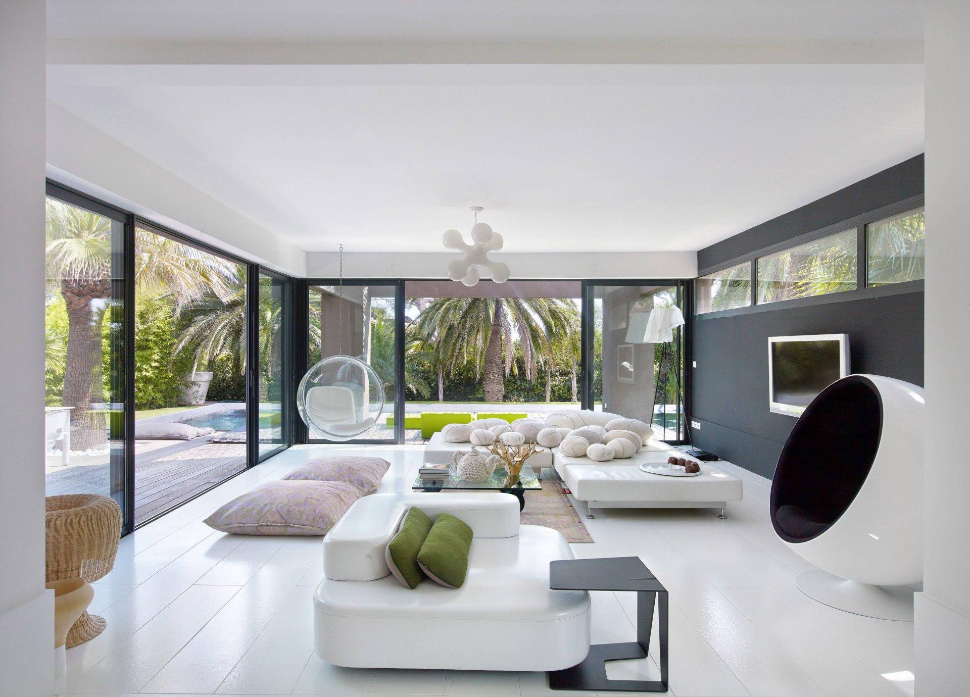 现代风格别墅客厅装饰设计效果图片