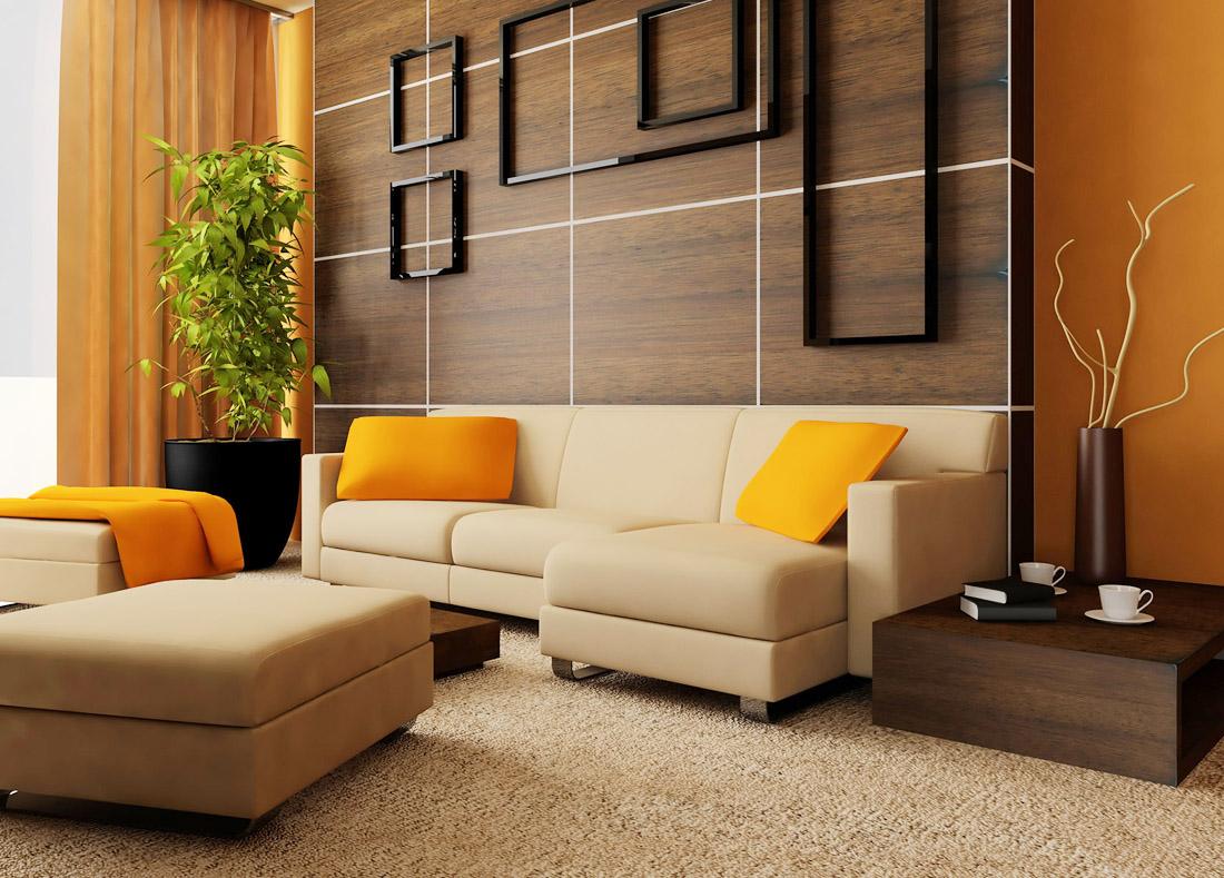 2017现代小客厅沙发背景墙装修效果图片