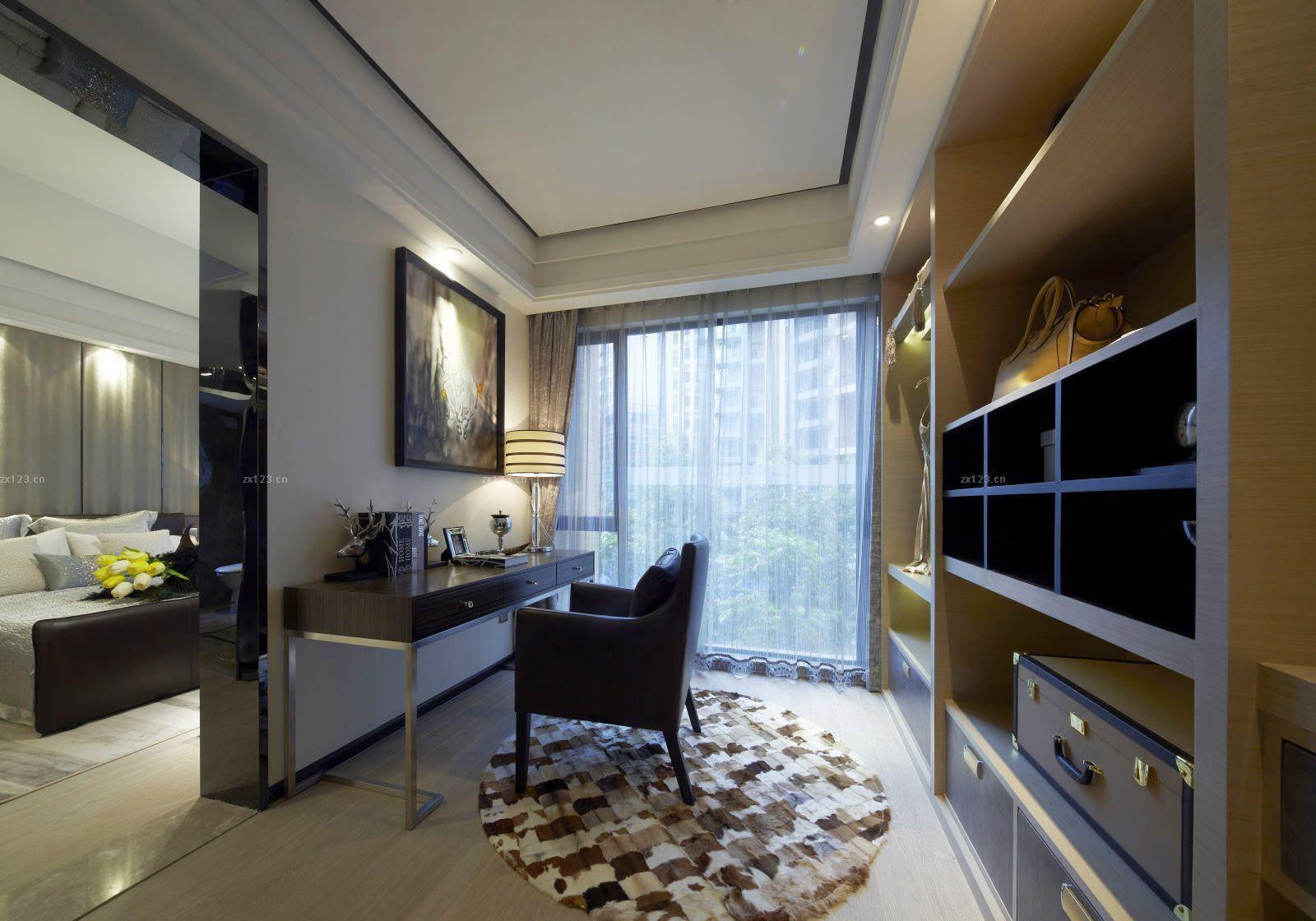 主卧室带电视柜衣柜设计图展示
