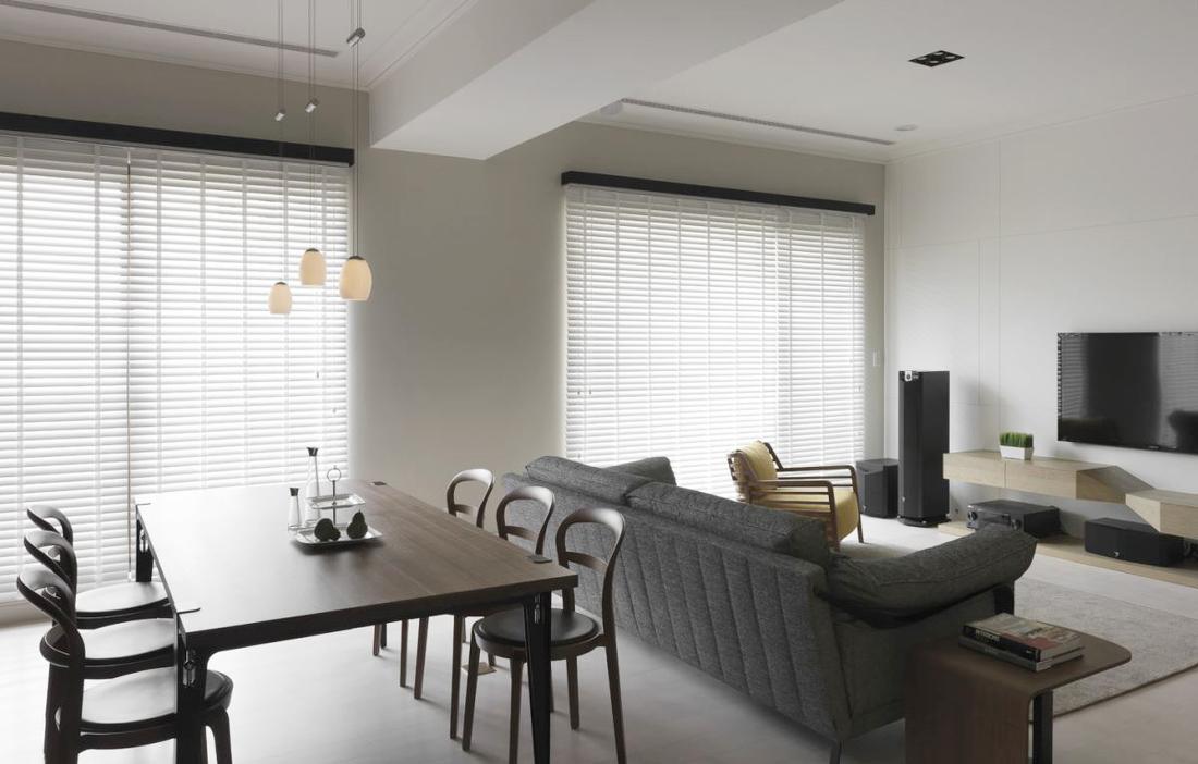 房屋餐厅连客厅装修案例图片