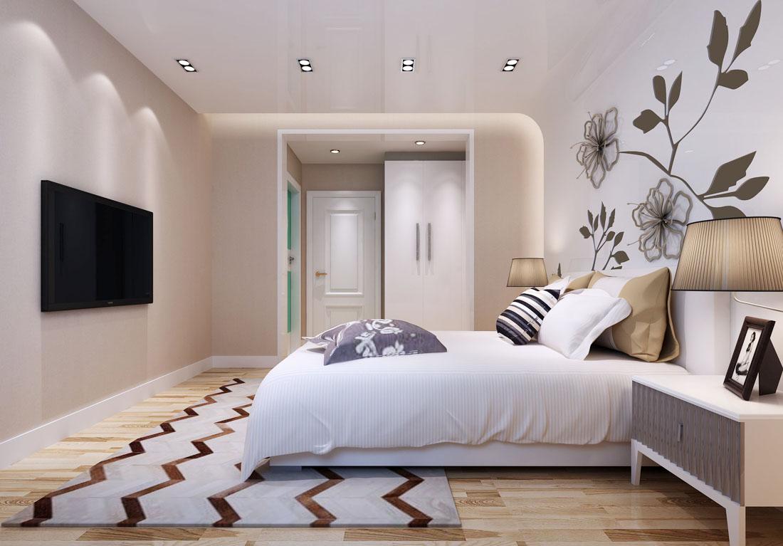 后现代风格时尚别墅设计卧室门装修效果图图片