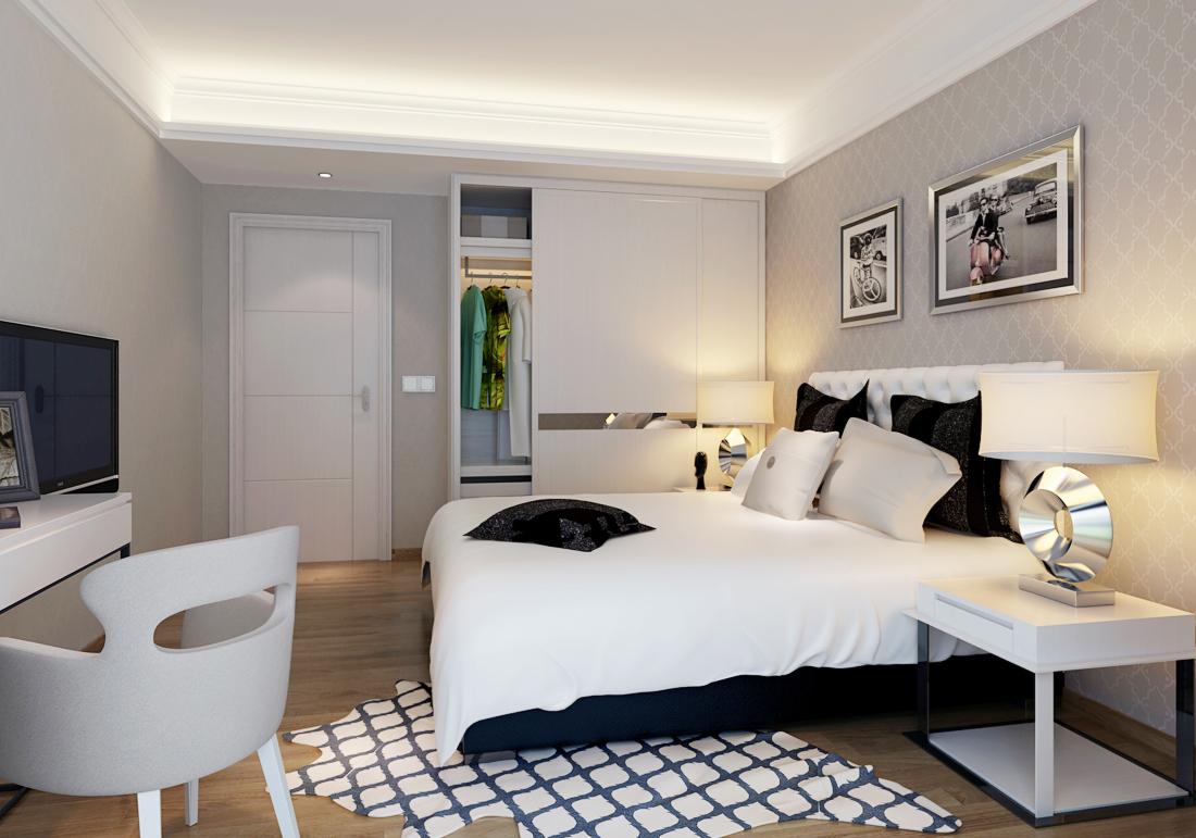 背景墙 房间 家居 起居室 设计 卧室 卧室装修 现代 装修 1100_771图片