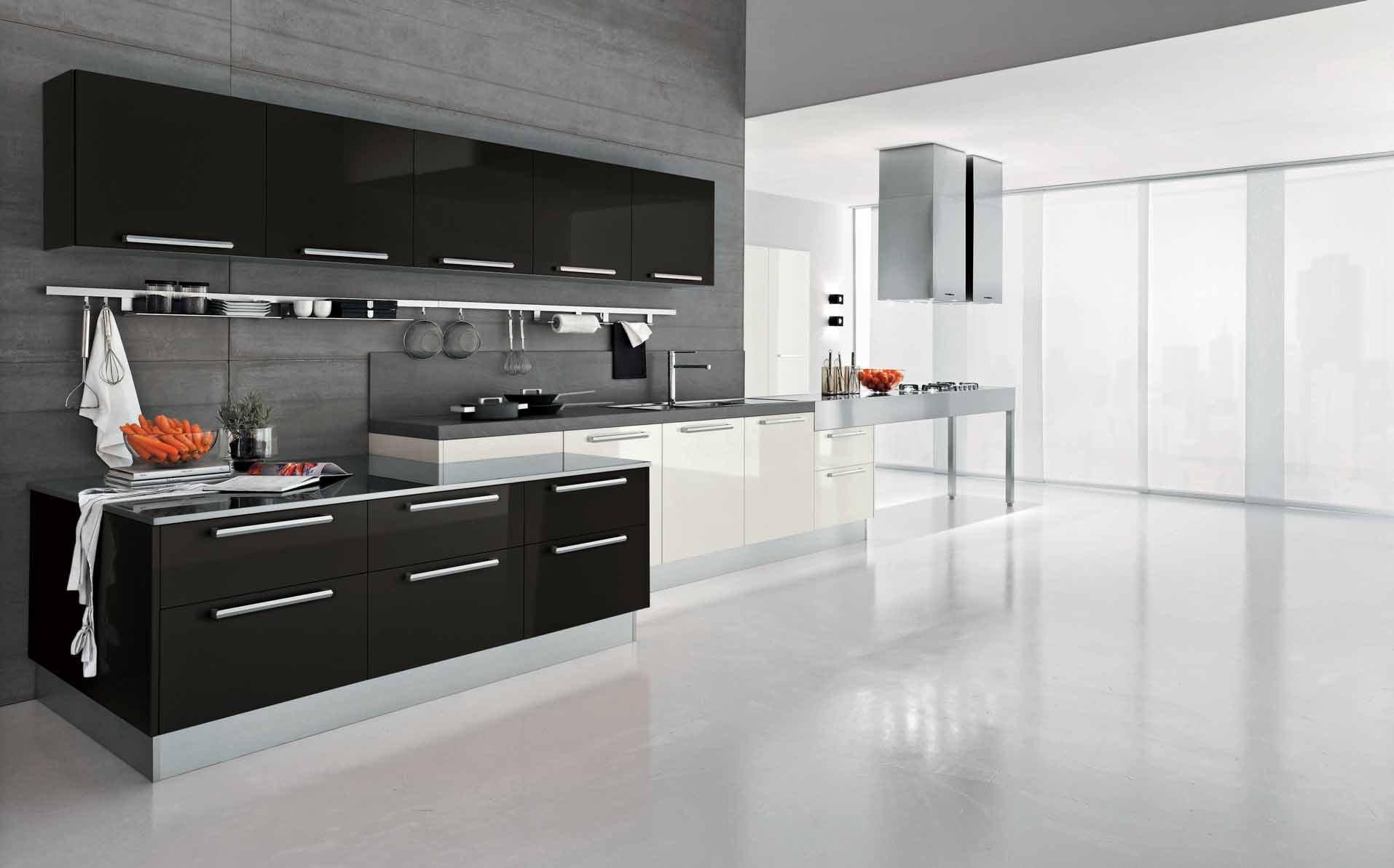 室内现代风格大厨房装饰装修效果图片