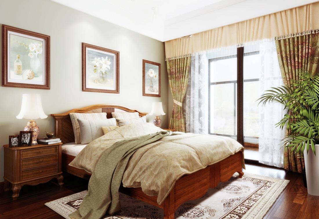 2017最新美式家居卧室床头装饰画装修效果图片图片