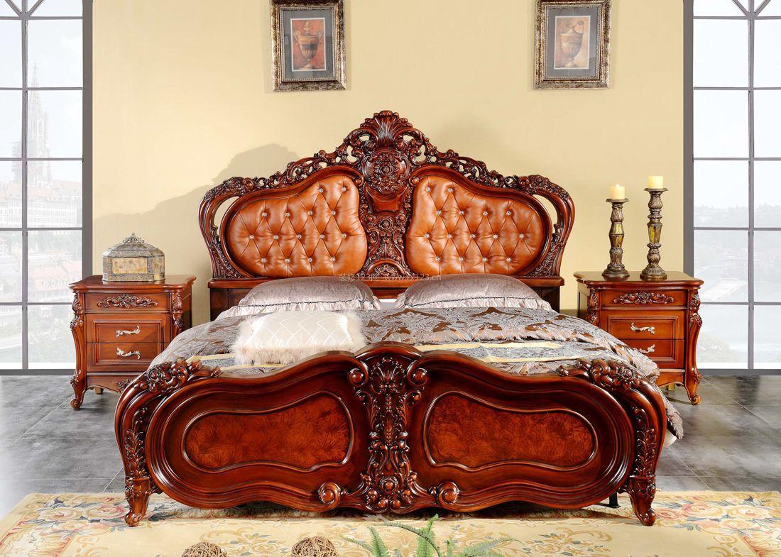2017美式家居卧室木床装修效果图片图片