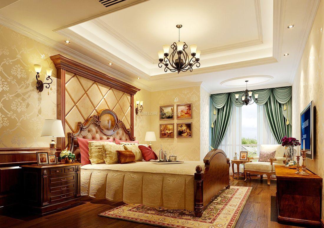 2017美式家居卧室床头壁灯装修效果图片图片