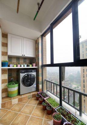 阳台家装设计 阳台洗衣机装修效果图