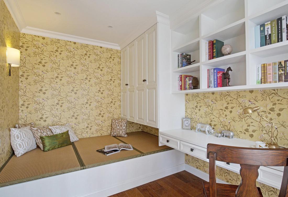 2017美式小户型家居设计卧室装修效果图片图片