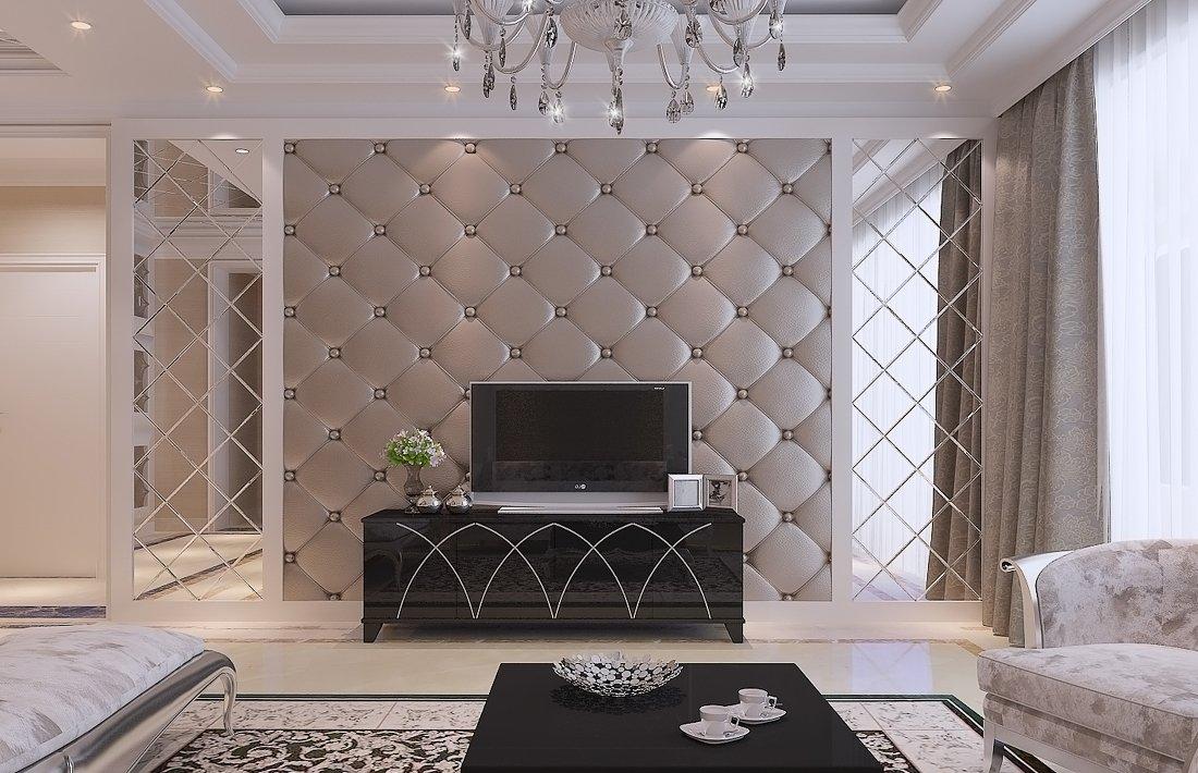 客厅软包电视背景墙装修效果图片