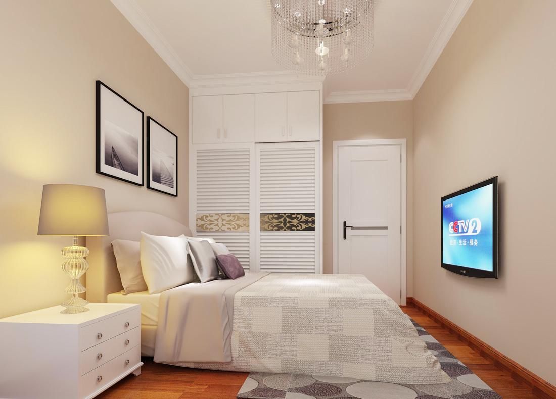 最新简欧风格室内卧室电视背景墙装修效果图片图片