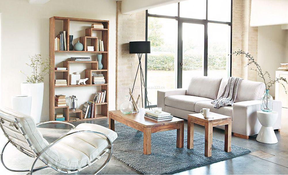 小户型客厅室内北欧原木风格装修图片