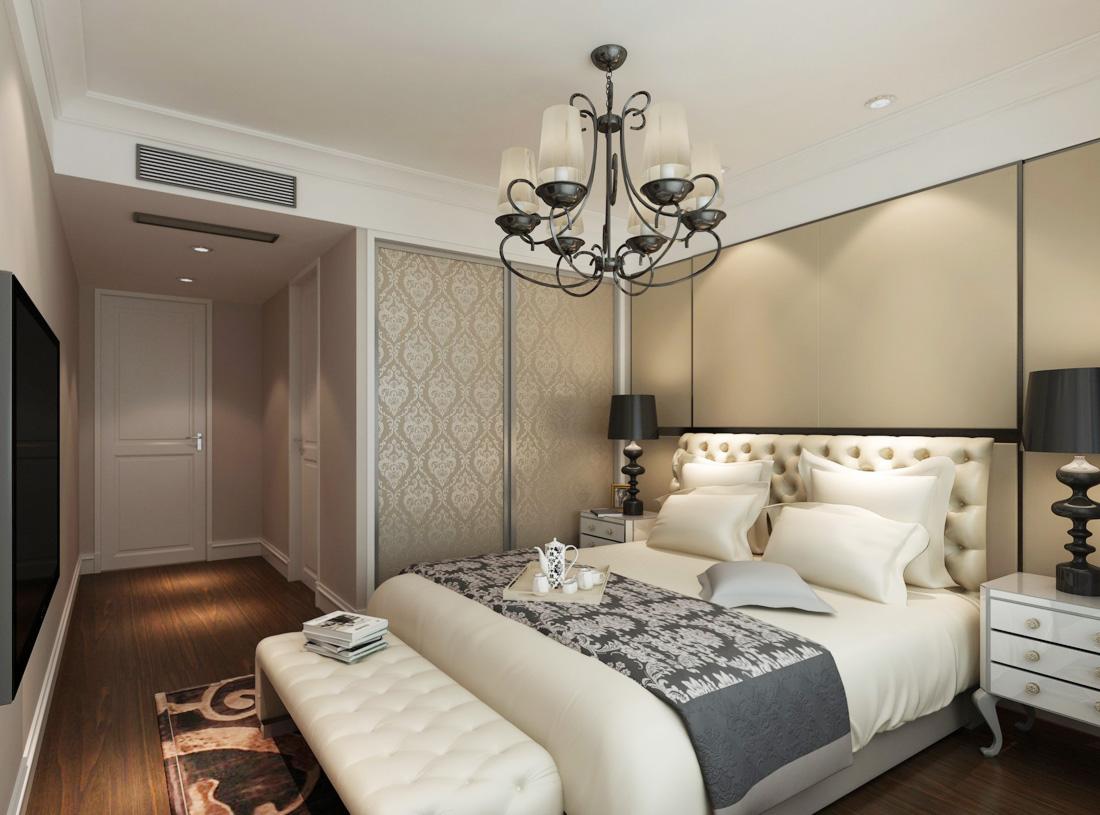 2017欧式简约风格小户型女生卧室设计效果图片