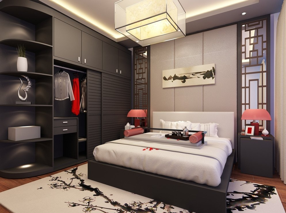 家居卧室衣柜内部装饰设计图
