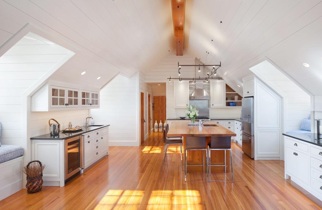 2017美式顶楼加阁楼装修厨房设计效果图