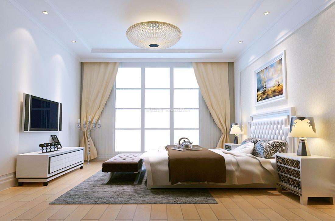 现代简欧风格别墅卧室灯装修效果图片2017
