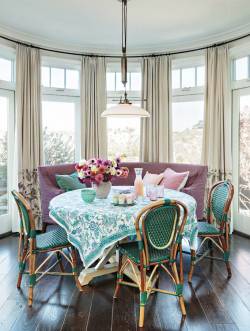 欧式田园风格餐厅餐桌桌布装修效果图片