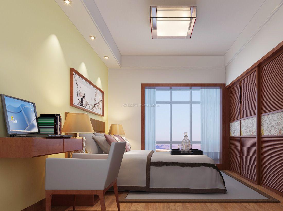 现代中式风格宜家家居卧室装修效果图片2017图片