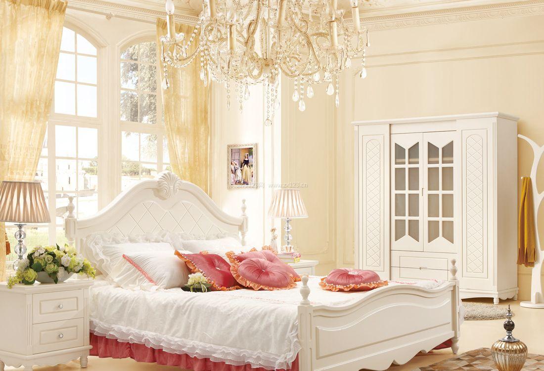 2017欧式宜家家居卧室水晶灯装修效果图片案例